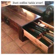 hidden gun rack plans coffee table gun storage hidden gun