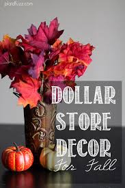 dollar store decor for fall the house of plaidfuzz