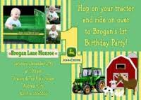 john deere photo birthday invitations