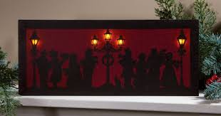 radiance flickering light canvas victorian style carolers flickering light picture