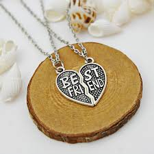 puzzle heart pendant necklace images Wholesale wholesale puzzle heart best friend pendant necklace jpg