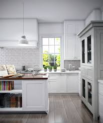 farmhouse townhouse kitchen complete with carrara mosaic tile