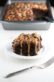 Halloween Poke Cake by Chocolate Turtle Poke Cake Mom Loves Baking
