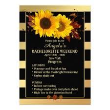 Sunflower Wedding Programs Chic Gold Striped Sunflower Wedding Collection