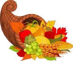 happy thanksgiving cornucopia clipart