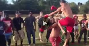 Backyard Brawlers Trained Mma Fighter Whoops Crazy Backyard Brawler When Challenged