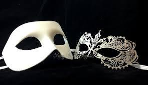 white masquerade masks for women buy wedding white masquerade mask pair for men and women laser cut