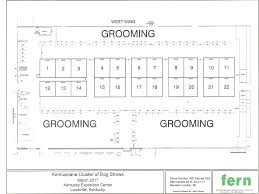 floor plan for booths and grooming the kentuckiana cluster of