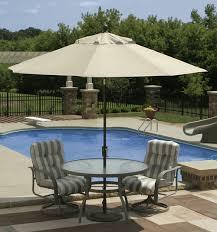 Grey Patio Umbrella by Swimming Pool Outdoor Swimming Pool With Decorative Umbrella