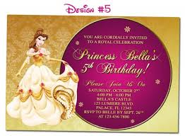 birthday invites appealing beauty and the beast birthday
