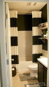 shower curtain ideas for small bathrooms hanging shower curtains to small bathroom look bigger