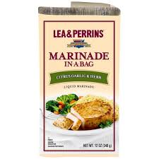 lea cuisine lea perrins citrus garlic herb marinade in a bag 12 oz from