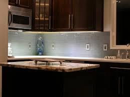glass subway tile backsplash ideas modern kitchen 2017
