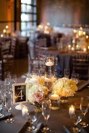 orange flameless candles estate table centerpieces wedding table