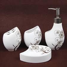 Contemporary Bathroom Accessories Sets - ceramic bath accessory set contemporary bathroom accessories by