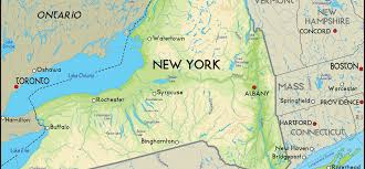 Map New York State by Reference Map Of The State Of New York Usa Nations Online Project