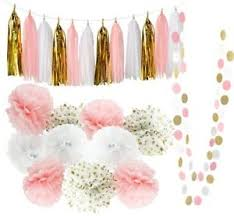 pink and gold party supplies qians party baby pink gold white baby shower decorations girl party