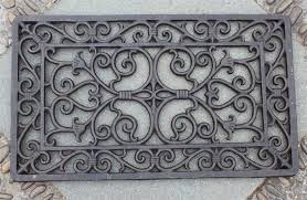 decorative wrought iron scroll door mat outdoor door mat rectangular
