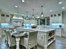 kitchen island with attached dining table kitchen island with table attached thamtubaoan club