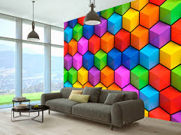 optically magnifying interior wall murals wall decorations in wall mural