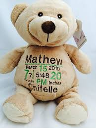 engraved teddy bears embroider teddy brown personalized brown by uniscrubcaps