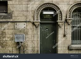 rear entry old city morgue building stock photo 54432922