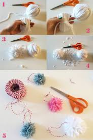 diy yarn pom pom tree ornaments freckle fair
