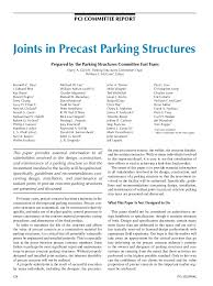 joints in pretopped precast parking structures