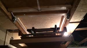 Lit Escamotable Plafond Rangement Plafond Escamotable Youtube