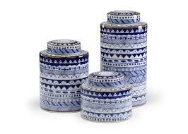 blue and white canisters blue white double happiness ginger jar