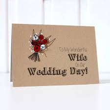 To My Wife On Our Wedding Day Card To My Wonderful Wife U0027 Wedding Day Card By Little Silverleaf