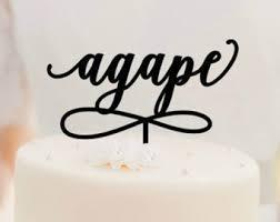christian wedding cake toppers agape etsy
