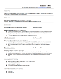 marketing resume examples entry level student entry level
