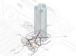 gallery of urban systems office u0027s bundle tower reimagines the bank