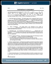 partnership agreement template create a partnership agreement