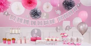 pink baby shower amazing pink and gray elephant baby shower decorations 36 for your