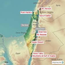negev desert map mountainst com