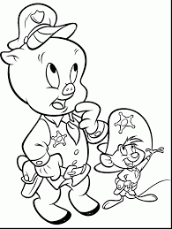 good looney tunes porky pig coloring pages looney tunes
