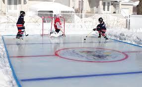 Making Backyard Ice Rink Backyard Hockey Rink Design And Ideas Of House