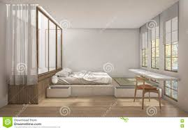 Japanese Style Bedroom by 3d Rendering Japanese Style Bedroom With Minimal Decoration Stock