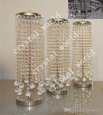 Very Cheap Wedding Decorations Sale By Bulk Elegant Crystal Table Top Chandelier Centerpieces For