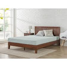 Wood Platform Bed Frames Priage Deluxe Antique Espresso Solid Wood Platform Bed With