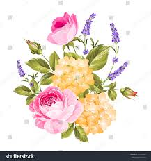 Image Of Spring Flowers by Spring Flowers Bouquet Color Bud Garland Stock Vector 415303009