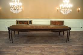Antique Dining Furniture Walnut Dining Table Opens To 132 Inches