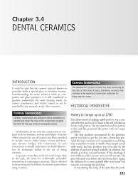 dental ceramics pdf porcelain glasses