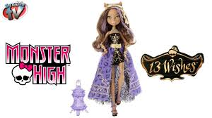 Monster High Halloween Wolf Doll by Monster High 13 Wishes Haunt The Casbah Clawdeen Wolf Doll Toy