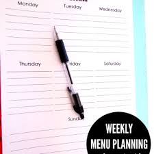 organized home printable menu planner 31 days to pretty organized home archives mina and her blog