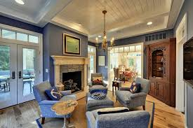 Blue And White Wall Art For Family Room Decor Ideas With Ceiling