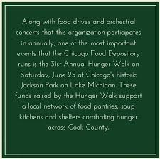 Soup Kitchens In Chicago by The Greater Chicago Food Depository U0027s 31st Hunger Walk