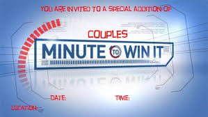 28 minute to win it template minute to win it party game minute